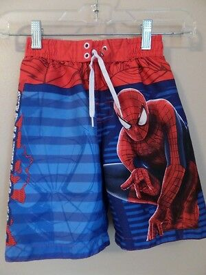 Boys Marvel Swim Trunks Spiderman Size 5
