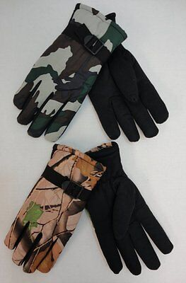 96 Pairs Ski Gloves Mens Hardwood Camo Camouflage Winter Snow BULK WHOLESALE LOT