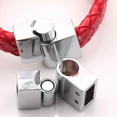 5Sets Silver Plated Magnetic Clasps Hooks Connector For Bracelet Necklace Making
