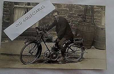 Early Rp Motorcycle Postcard