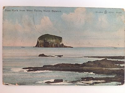 North Berwick, Bass Rock, Vintage Postcard, Postally Used 1920