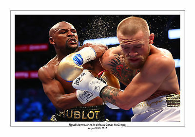 FLOYD MAYWEATHER Jr. vs. CONOR MCGREGOR A4 PRINT PHOTO BOXING 26TH AUGUST UFC