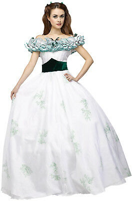 Brand New Gone With The Wind Scarlett O'Hara Adult Costume (White)