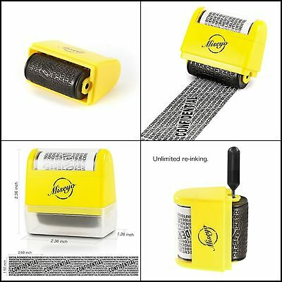 Roller Stamp Confidential Identity Theft Stamp Information Security Privacy NEW