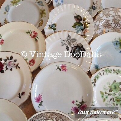 Job Lot Of 10 Vintage Mismatching China Side Plates - Ideal for Tea Parties