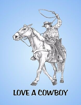 METAL REFRIGERATOR MAGNET Love A Cowboy Horse Western Family Friend