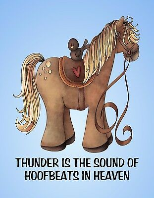 METAL REFRIGERATOR MAGNET Thunder Hoofbeats In Heaven Horse Western Saying