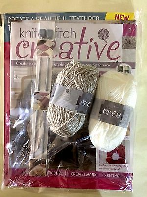 Knit & Stitch Creative Brand New Knitting Partwork Issue 1 Free 4Mm Needles&wool