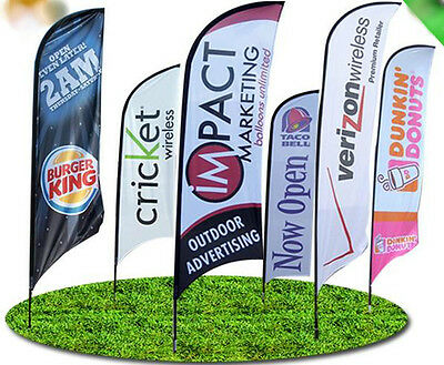 Custom printed Feather flag small 2.5m banner exhibition events retail display