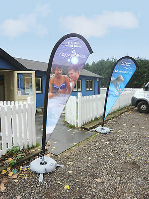 Custom Printed Teardrop Medium 3.4m flag banner exhibition events retail