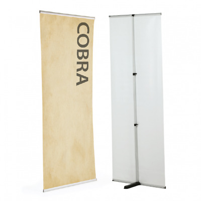L-stand Rollup Banners , single sided Flexible freestanding banner display