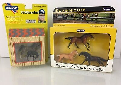 New Pair of Breyer Seabiscuit Horses - War Admiral, Pumpkin Derby #10103 1:32