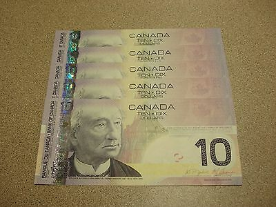 One 2005 - $10 Canada note - Canadian ten dollar bill - Mint in Sequence