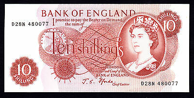 Bank of England 10 Shillings J. S. Fforde UNC Note  QEII
