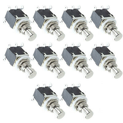 10Pack Black 6Pins DPDT Latching Stomp Foot Switch Guitar AC 250V/2A 125V/4A