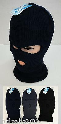 Wholesale 144pc Lot Assorted Solid Color Winter Knit 3 Hole Ski Mask