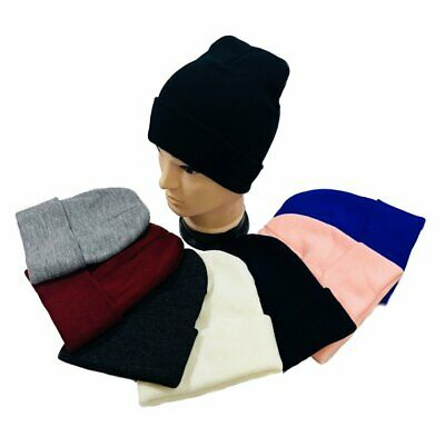 Wholesale 48pc Lot Solid Color Knit Beanie Toboggan Winter Hats Assorted Colors