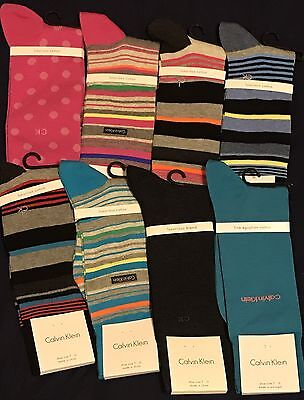 NEW! Calvin Klein Luxurious, Fine Egyptian Cotton Socks Lot Of 8.. Free Shipping