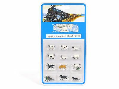 Bachmann Trains N Scale Animal Set Includes 12 Figures set # 42505