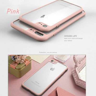 Ultra Thin Shockproof Clear Back Hybrid Bumper Case Cover For iPhone 8 7 6s Plus