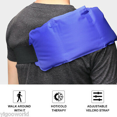 Reusable Hot Cold Gel Ice Pack First Aid Pain Relief Heat Back Neck Shoulder Pad