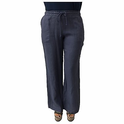 LA FEE MARABOUTEE women's trousers with shoelace colour denim 100%linen