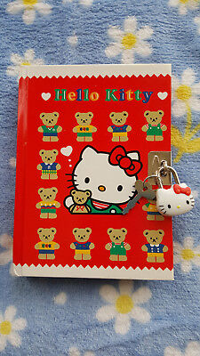 Vintage Sanrio 76 93 Hello Kitty & Bear Diary w/Mini Hello Kitty Lock - NEW