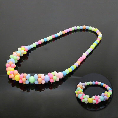 Baby Necklace&Bracelet Set Bubblegum Lovely Cute Children Candy Colors Fashion