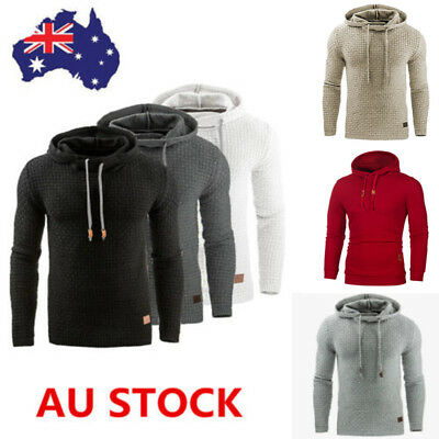 Winter Men Hoodie Hooded Sweatshirt Outwear Coat Pullover Jumper Streetwear Tops
