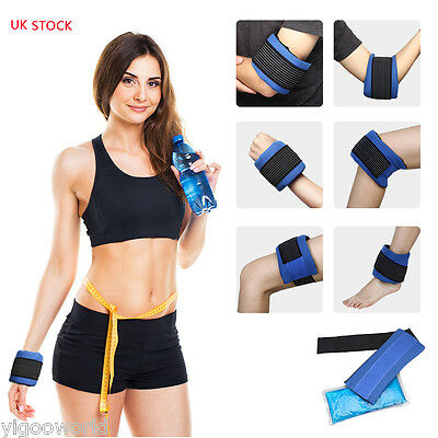 Reusable Gel Ice Pack Hot Cold Therapy Wrap for Knee Neck Shoulder Pain Relief
