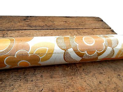 Vintage Retro Mid Century Roll of Flower Power Wall Paper 60s 70s - Floral #2