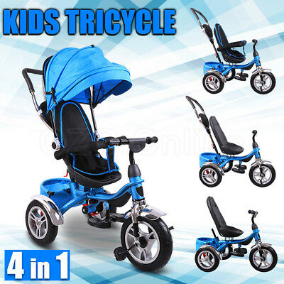 4 IN1 Baby Toddler Kids Stroller Pram Ride-on Toys Jogger With Bassinet