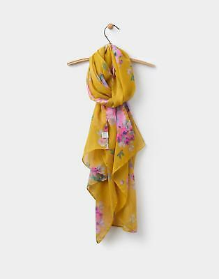 Joules 124509 Womens Wensley Scarf in Gold Floral in One Size