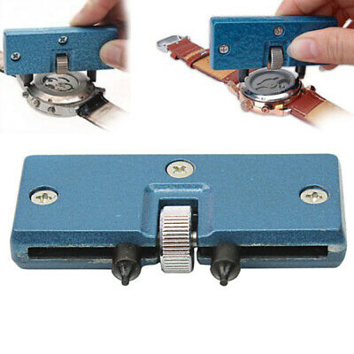 Watch Back Case Opener Screw Wrench Repair Tool Cover Remover Battery Kit