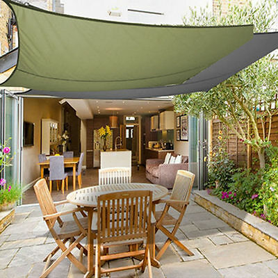 Large Sun Shade Sail Garden Patio Shelter Awning Canopy Roof Foldable 290×290CM