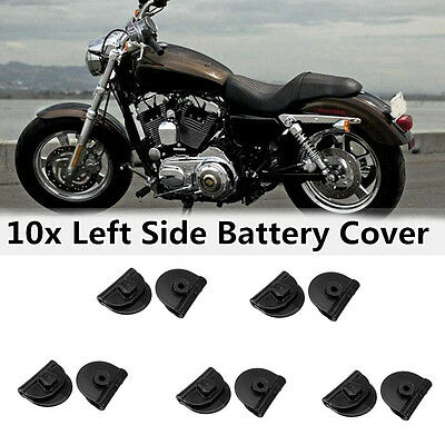 10x ABS Left Battery Cover Clips For Harley Sportster XL883 XL1200 48 72 04-17