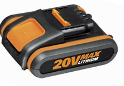 worx 20v lithium battery wx551 2.0ah with built in battery life indicator