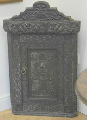 antique oak CORNER CABINET jacobean style victorian in date