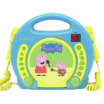 Official Peppa Pig Lexibook Cd Player With Microphones Childrens