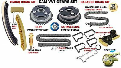 For Mercedes M271.941 M271.956 M271.958 Timing Chain Kit + Camshaft Vvt Gears