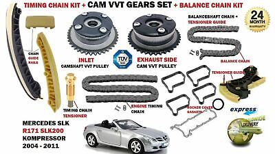 For Mercedes Slk200 Kompressor 2004-2011 Timing Chain Kit + Camshaft Vvt Gears