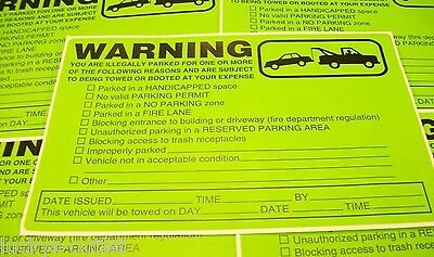 10 Pack Multi-Violation No Parking Towing Warning Sign Car Window Stickers