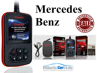 Mercedes Airbag Srs Fault Diagnostic Scan Tool & Reset Code Reader Icarsoft I980