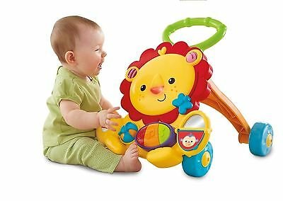 Fisher-Price Musical Lion Walker Activity Toddler Baby Development Learn
