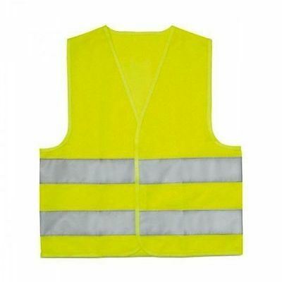 (055) 1 x High Visibility Reflective Vest for Children's Yellow Car Car School