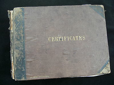 Royal Navy 1887-1947 Album of 63 Signed Good Conduct Certificates - Father & Son