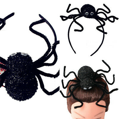 New Unisex Halloween Black Spider Hair bands Fancy Dress Decor Accessories Gift