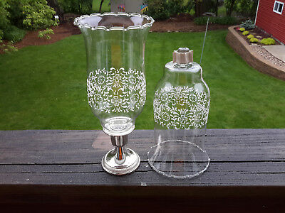 2 HOMCO 1198-BL PARK LANE Large Glass PEG Votive Cup Candle Holders w/Grommets