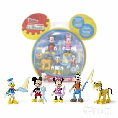 New Disney Mickey Mouse Clubhouse 5 Figure Pack Minnie Goofy Donald Official