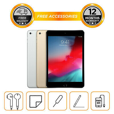 "Apple iPad Mini 4th Generation 7.9"" 128GB Wi-Fi Unlocked All Colours"